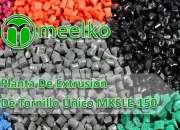 Planta de extrusión de tornillo único meelko mksle-150