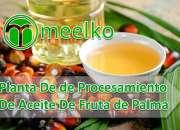 Planta de procesamiento de aceite de fruta de palma meelko