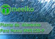 Planta de procesamiento de alimento para peces meelko mke120-p