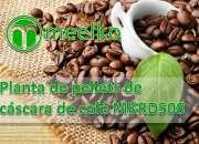 Planta de pellets de cáscara de café meelko mkrd508