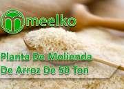 Planta de molienda de arroz de 50 ton/día MEELKO